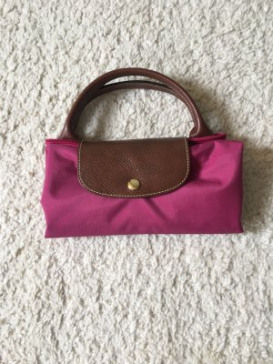 Longchamp Carry Bag pink leather