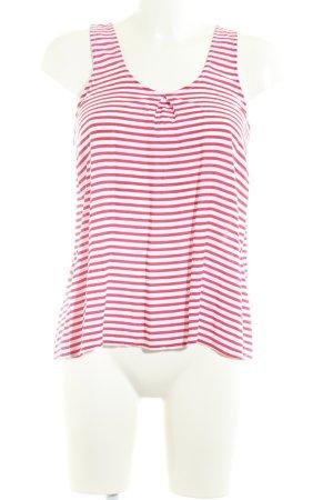 Pink loop A-Linien Top wollweiß-rot Streifenmuster Casual-Look