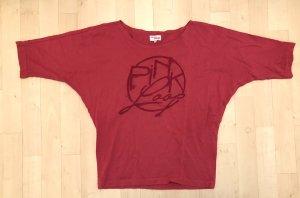 Pink Loop Top Shirt M/38 dreiviertel pink kurz Crop