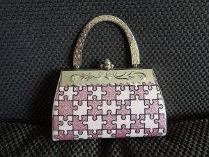 Pink Metal Clutch/Tasche