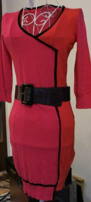 pink orange dünnes Strickleid von Orsay Gr s Asymmetrie