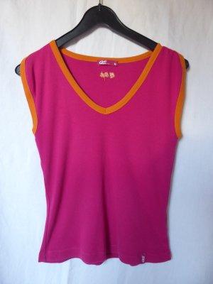 Pink-orangefarbenes T-Shirt von QS (S.Oliver)