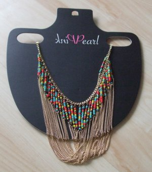Pink Pearl Halskette mehrreihig mit Perlen  - Hingucker