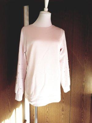 Pink Pullover mit Perlen