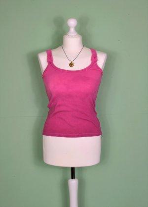 Pink / Rosa Farbenes Top mit Knoten in den Trägern