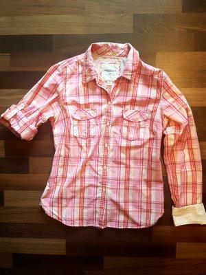 Pink Rosa karierte American Eagle Bluse