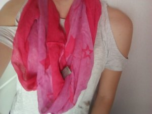 Pink rosa Sternenschal