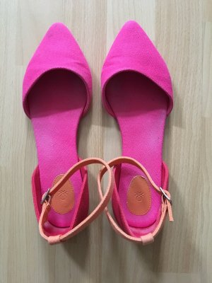 Pink-rot-orange Stoffsandalen von Benetton