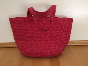 Pink Rote Tasche Korbtasche Strandtasche