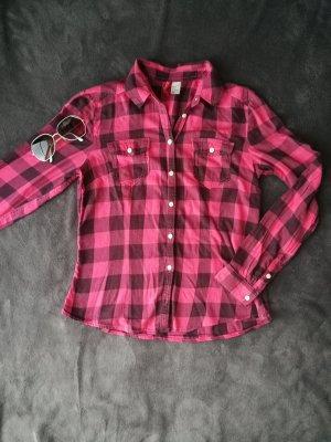 pink/schwarze Bluse H&M 36