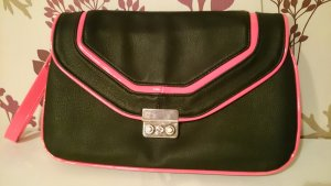pink schwarze Handtasche