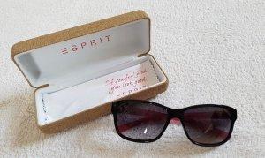 Pink-schwarze Sonnenbrille + Etui (Esprit)