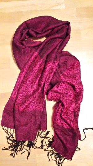 Pink-schwarzer Pashmina mit Paisleymuster