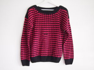 Slipover black-pink cotton