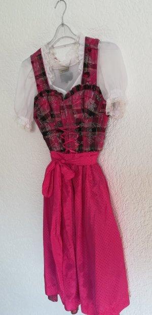 pink-schwarzes Dirndl
