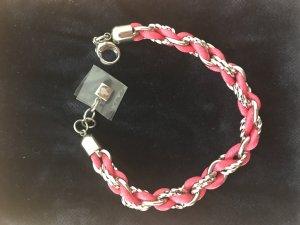 Pink-silbernes Armband von Leonardo
