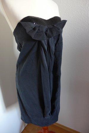 Pink Soda Seide Kleid sexy trägerlos schwarz Gr. XS