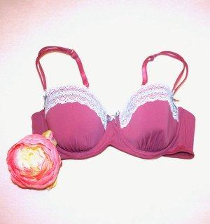 Pink Spitzen BH Gr. 80 A Polster BH Sexy Design