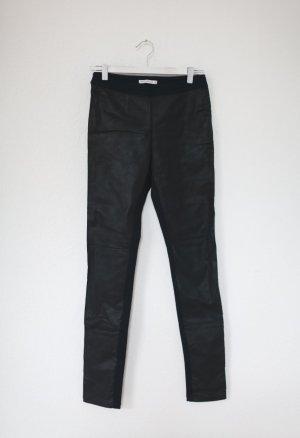 Pink Stitch Hose Skinny Pants Petrol Leder Coated Gr. S Vintage blogger Stil