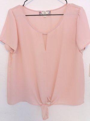 Pink T-Shirt mit Schleife