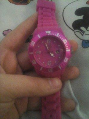 pink uhr mit plastikarmband Marke BKS TIME