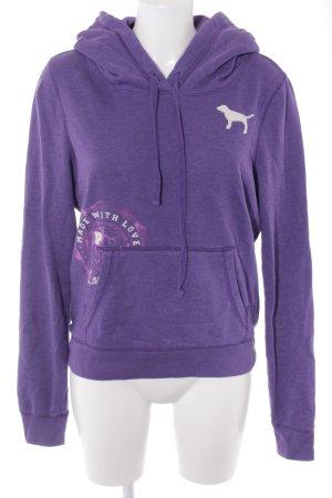 Pink Victoria's Secret Kapuzensweatshirt blauviolett-violett Motivdruck