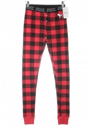 Pink Victoria's Secret Leggings negro-rojo estampado a cuadros