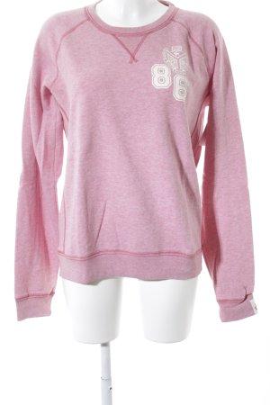 Pink Victoria's Secret Rundhalspullover rosa-wollweiß Schriftzug gedruckt