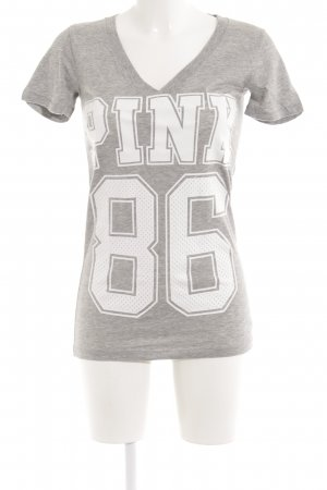 Pink Victoria's Secret Sports Shirt light grey-white printed lettering