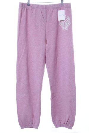 Pink Victoria's Secret Sweathose rosa-weiß meliert Casual-Look