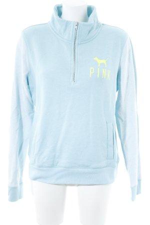 Pink Victoria's Secret Sweatshirt babyblau-weiß schlichter Stil