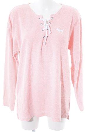Pink Victoria's Secret Sweatshirt weiß-neonorange meliert Casual-Look