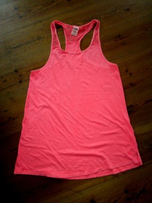 Pink Victoria's Secret Top mit Spitze Long-Top Minikleid Gr. M neu neon koralle pink