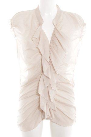 Pink Volanten top nude elegant
