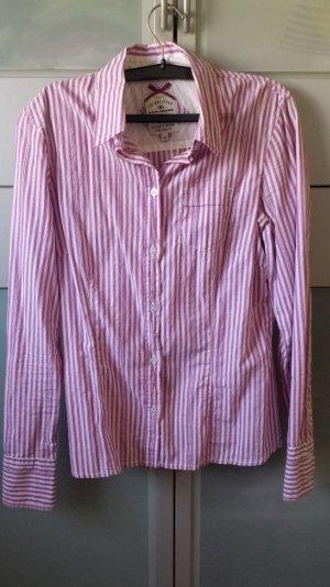 Pink-weiß gestreifte Bluse