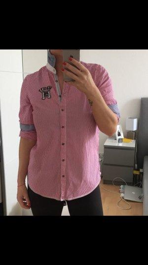 Pink weiß gestreifte Tommy Hilfiger Bluse
