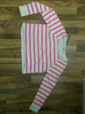 Pink Weiß gestreifter Pullover von Aéropostale