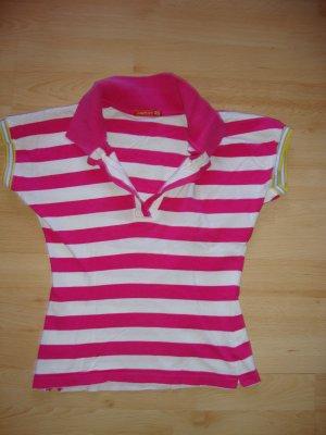 pink weiß gestreiftes Poloshirt mit Kragen Größe XS von Fishbone