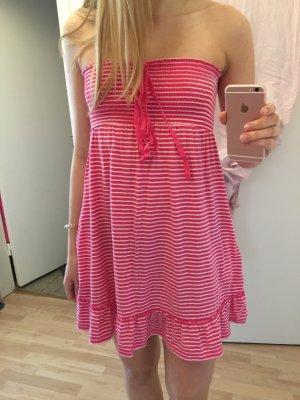 Pink Weiß gestreiftes Sommer Strand Kleid in Größe M von Victoria's Secret PINK
