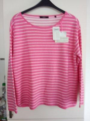 Pink-Weiß gestreiftes Sweatshirt von Bonita Gr.M
