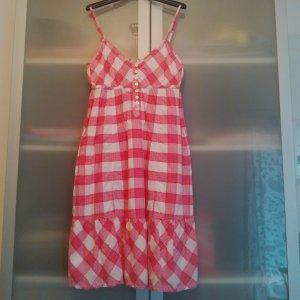 pink-weiß kariertes Sommerkleid