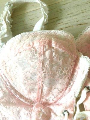 Pink Weiß Spitze Vintage Kawai Corsagen Top