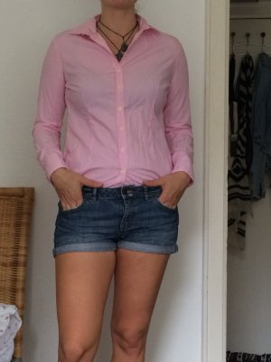 Pink weiße Brookshire Bluse