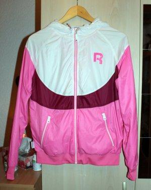 Pink weiße Sportjacke / Laufjacke Gr. S (34/36)