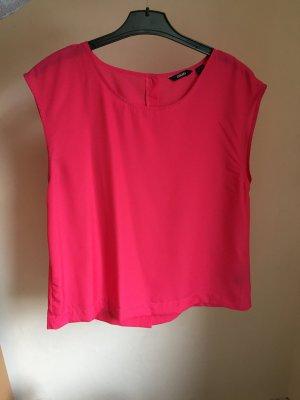 pinke ärmellose Bluse