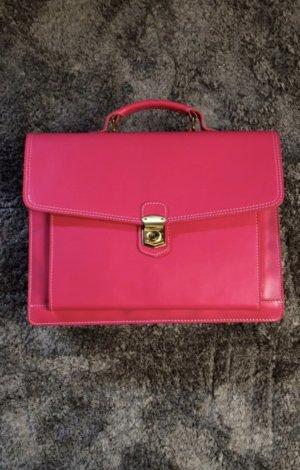 Pinke Aktentasche aus Leder