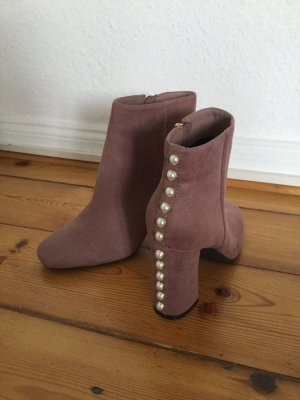 Pinke Ankle Boots