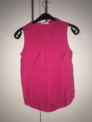 Bershka Sleeveless Blouse pink