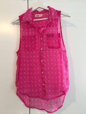 Pinke Bluse mit kleinen Schildkröten von Hollister / Größe XS