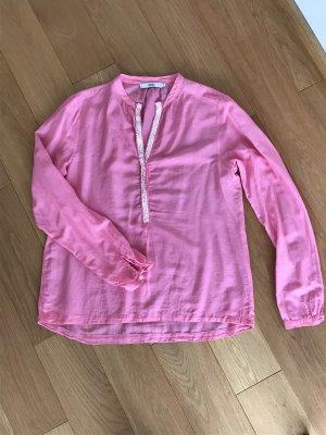 Pinke Bluse mit weißen Pailetten